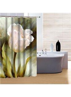 High Class Graceful Pink Flower 3D Shower Curtain
