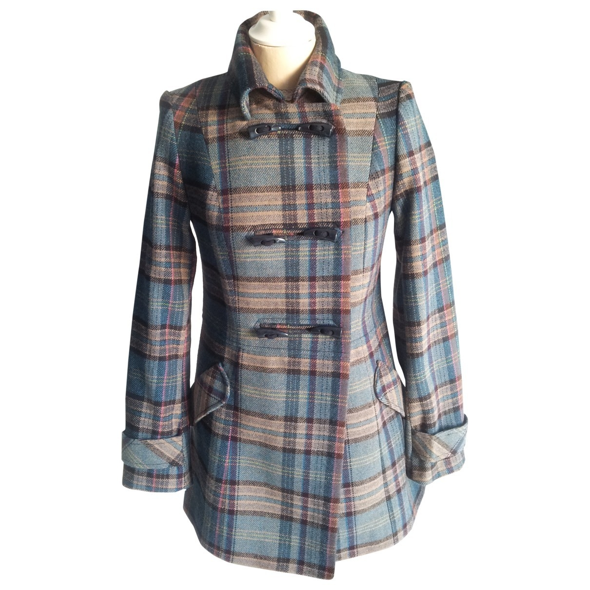 Non Signé / Unsigned \N Multicolour Wool coat for Women 36 FR