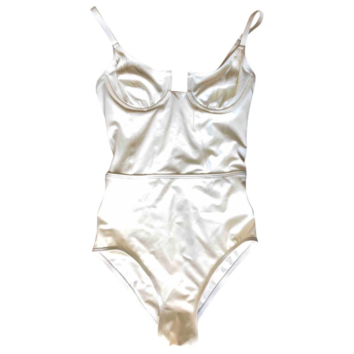 Solid & Striped \N White Lycra Swimwear for Women XS International