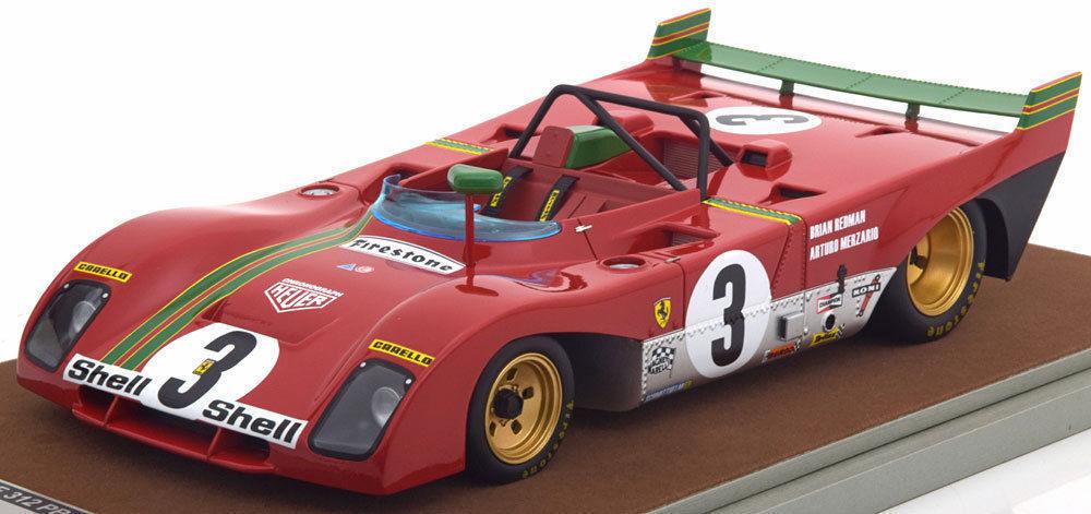 Ferrari 312 PB 3 1972 Winner 1000km SPA Arturo Merzario / D. Redman Limited Edition to 100pcs 1/18 Model Car by Tecnomodel