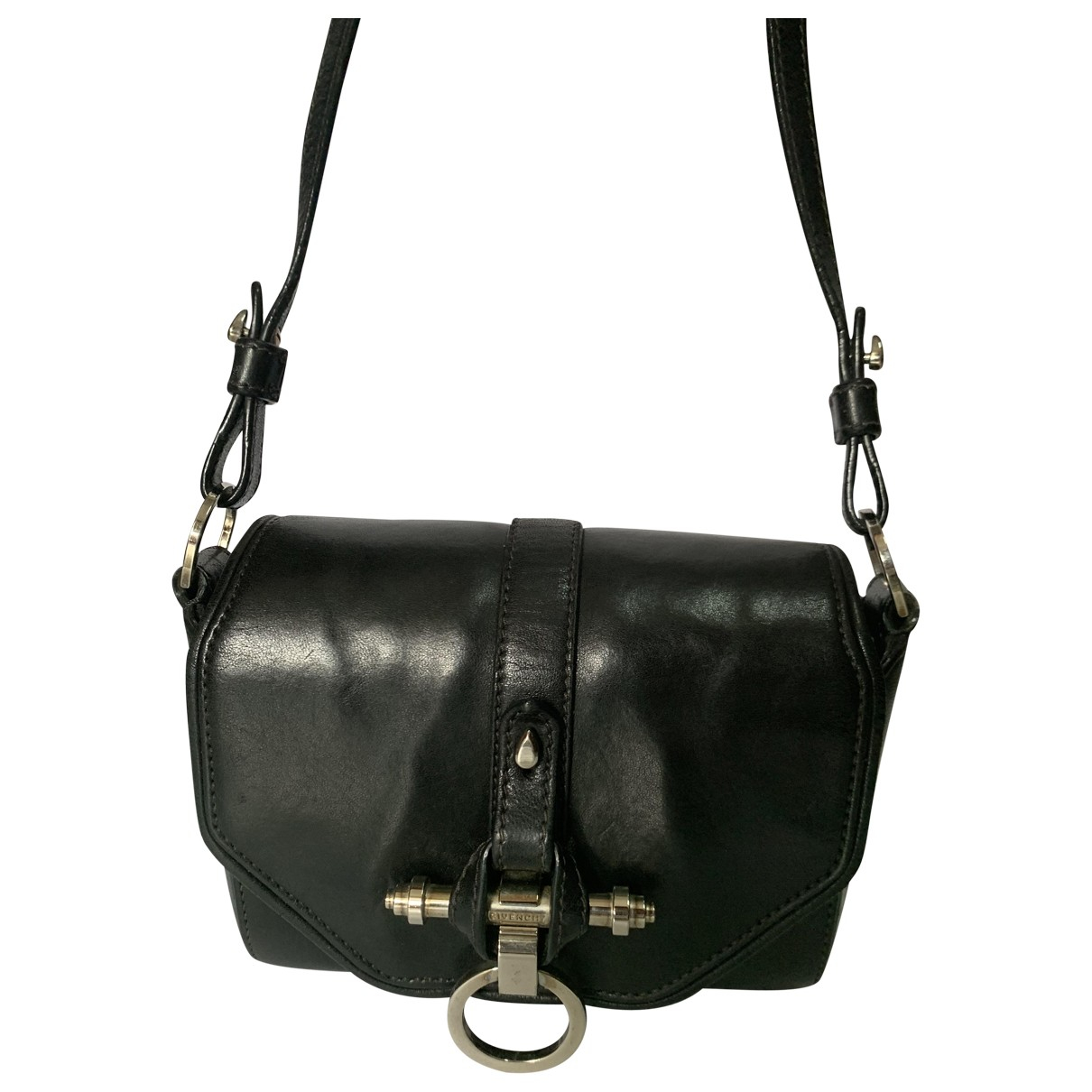 Givenchy Obsedia Black Leather handbag for Women \N