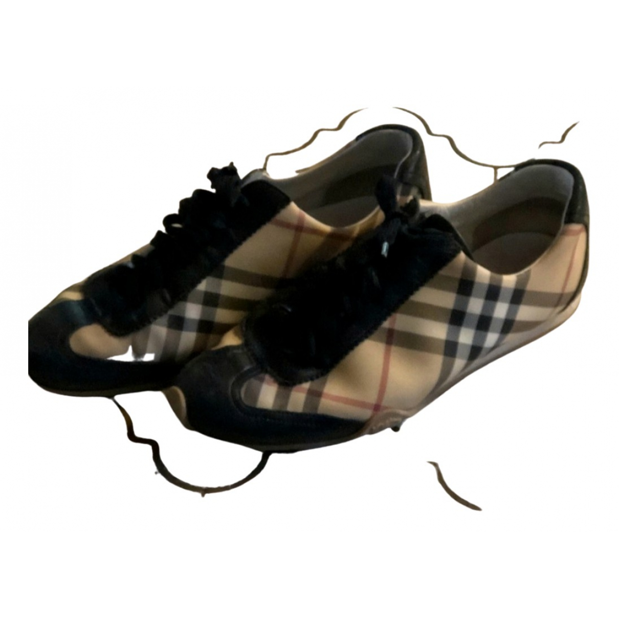 Burberry \N Brown Leather Trainers for Women 38 EU