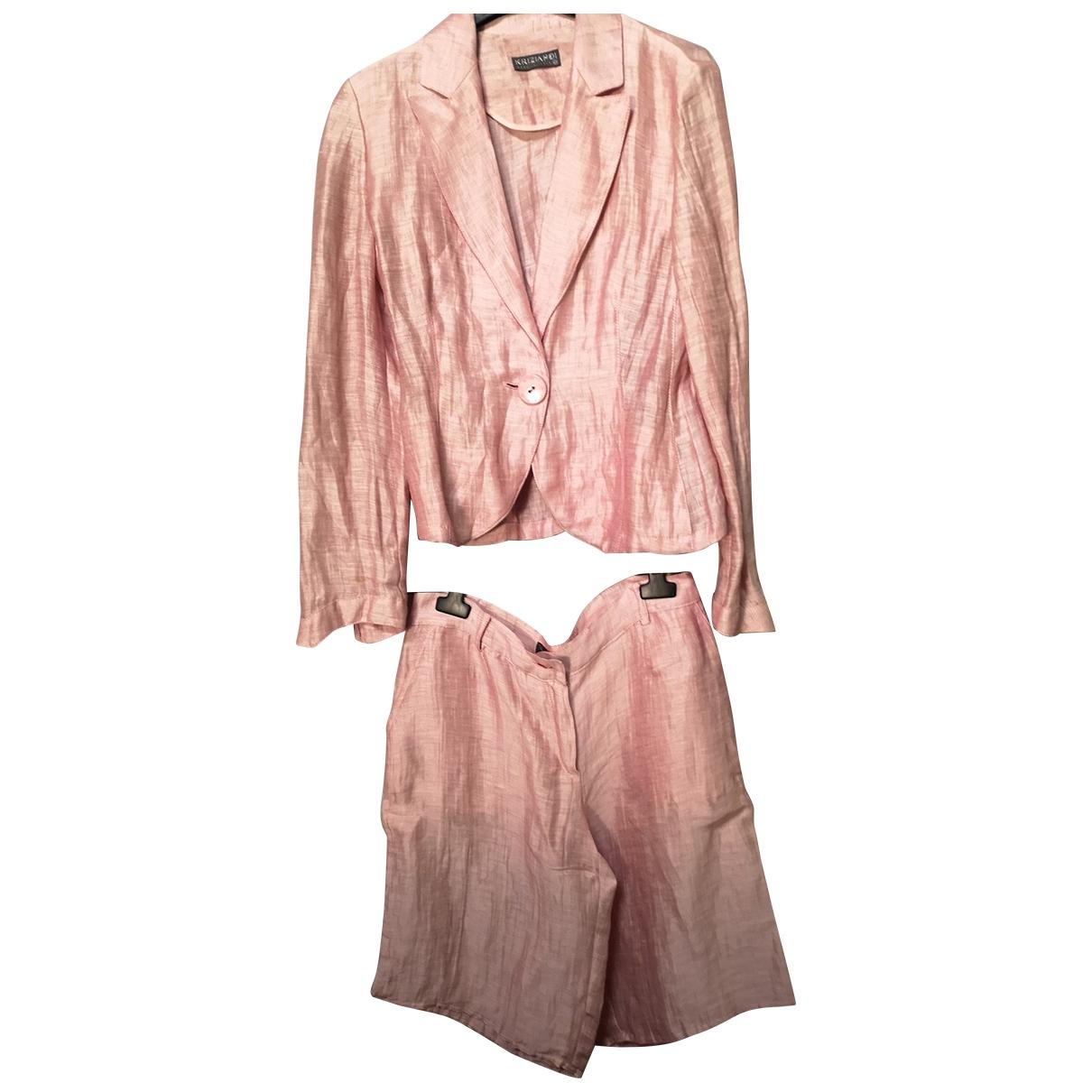 Krizia - Veste   pour femme en lin - rose