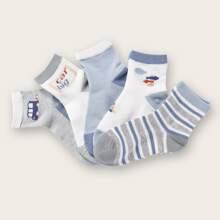 5pairs Toddler Boys Striped Socks
