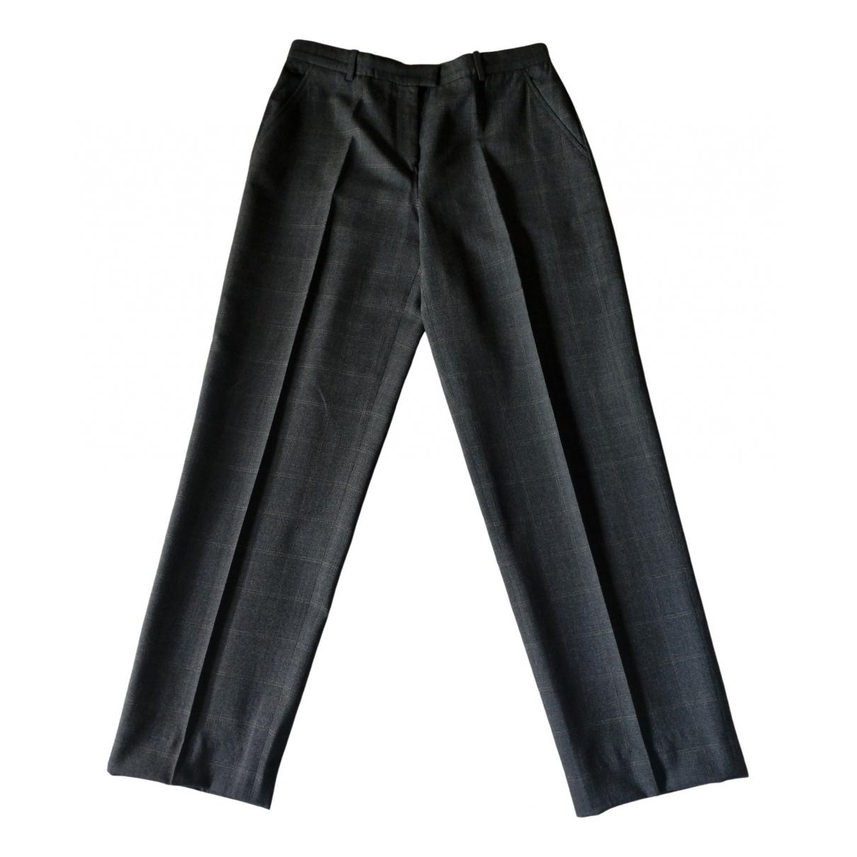 Armani Collezioni \N Grey Wool Trousers for Women 44 IT