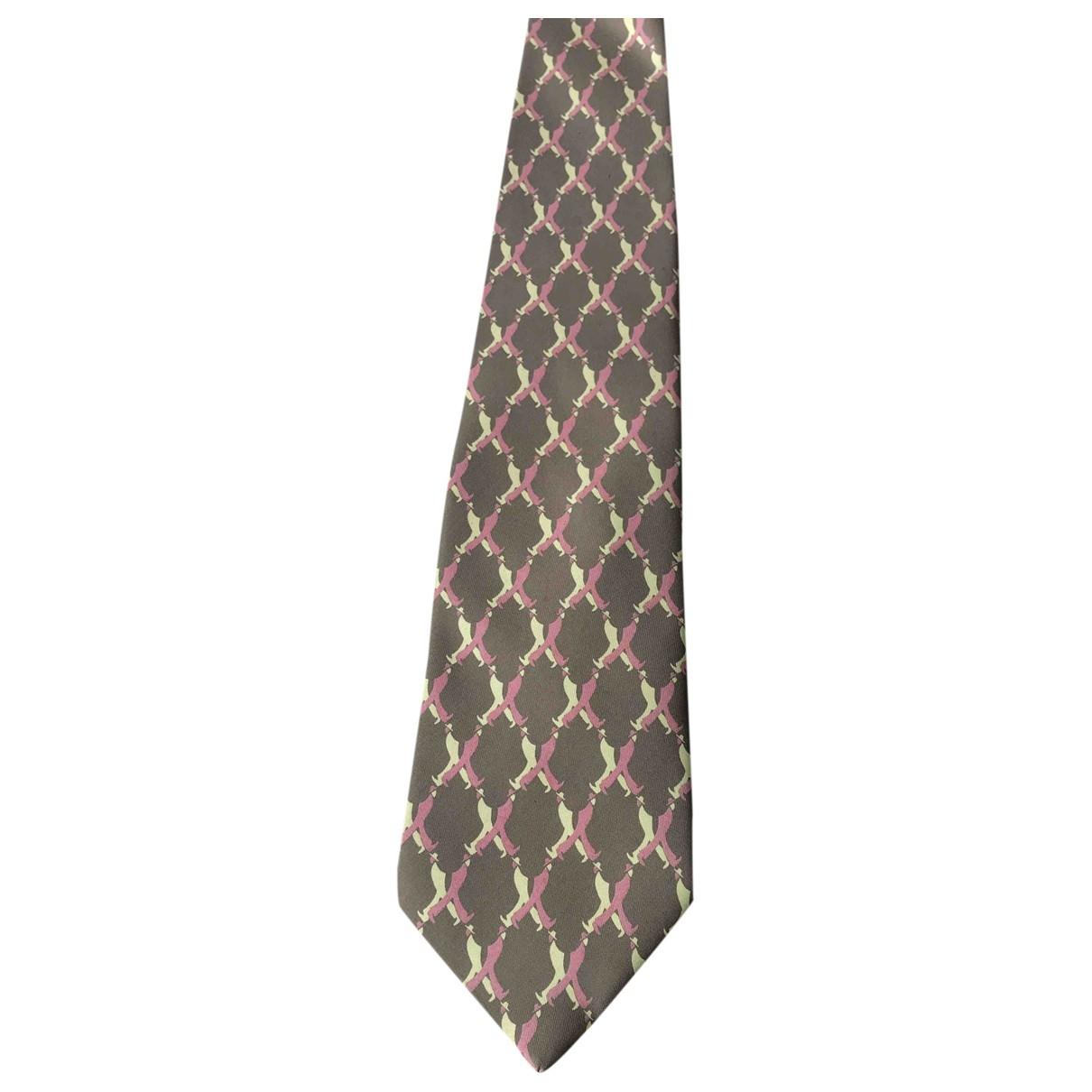 Gucci - Cravates   pour homme en soie - kaki