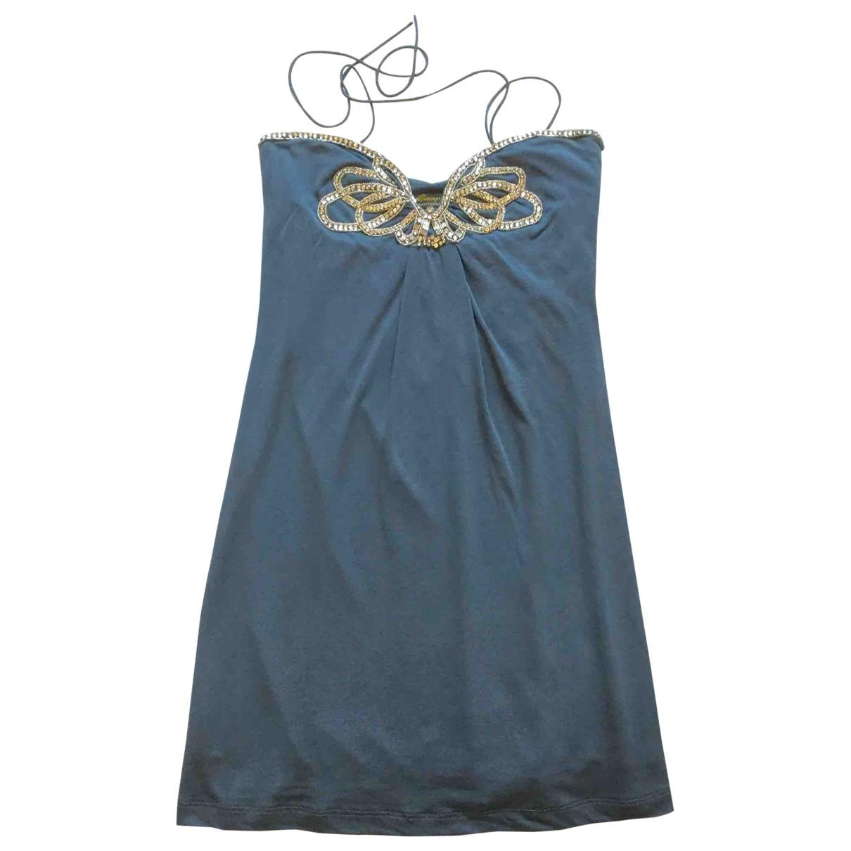 Zara \N Kleid in  Blau Viskose
