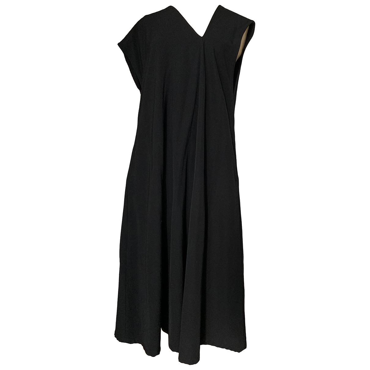 Ys - Robe   pour femme en laine - noir