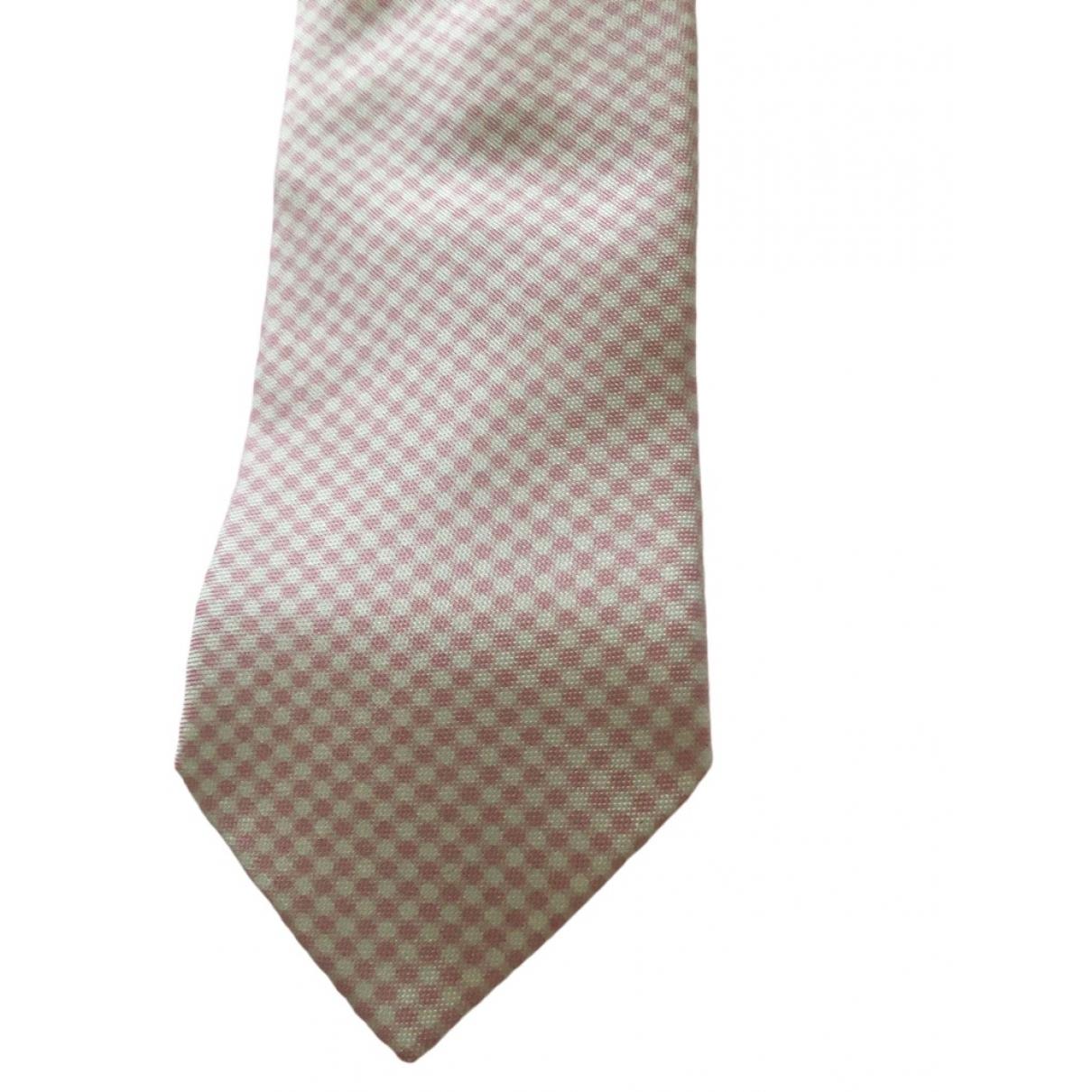 Alfred Dunhill \N Pink Silk Ties for Men \N