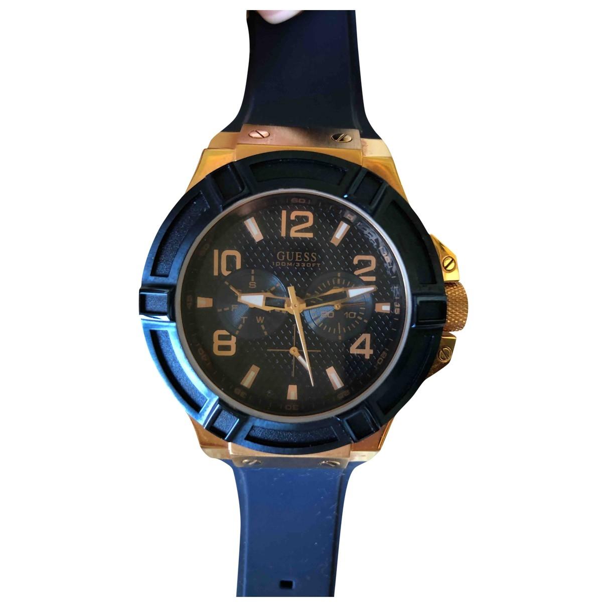 Guess \N Uhr in  Blau Stahl