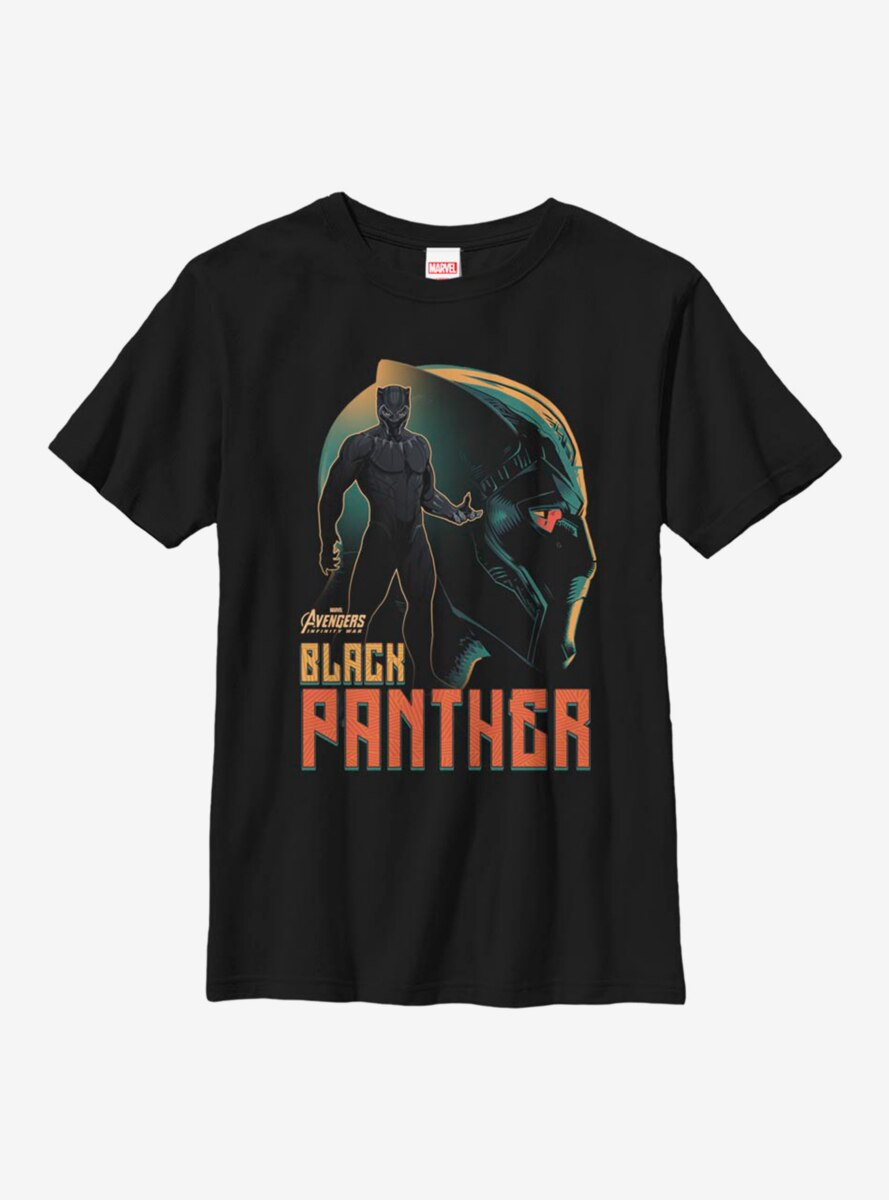 Marvel Black Panther King Silhouette Youth T-Shirt