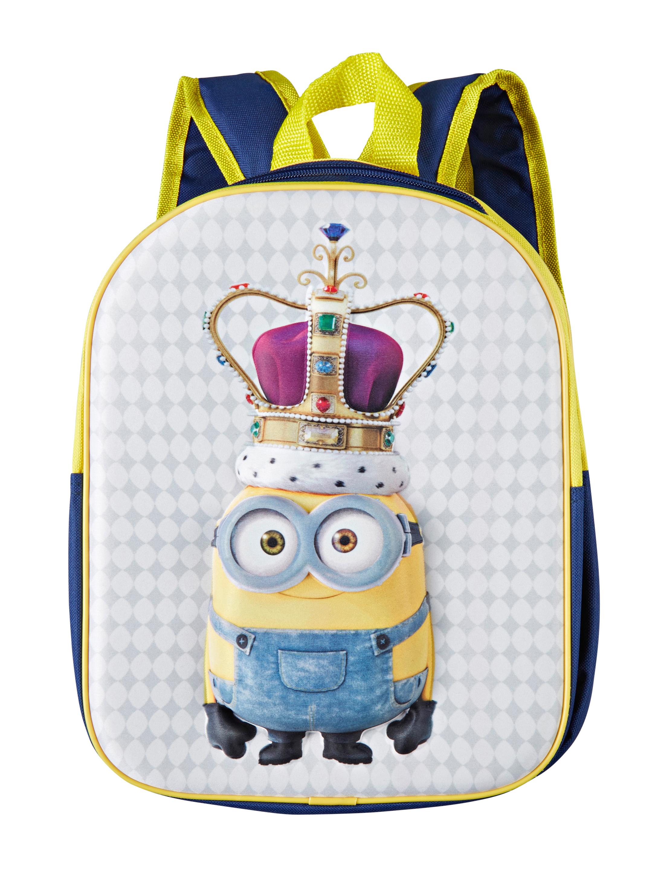 Kostuemzubehor Rucksack Minion mit Krone Kinder Farbe: blau/gelb