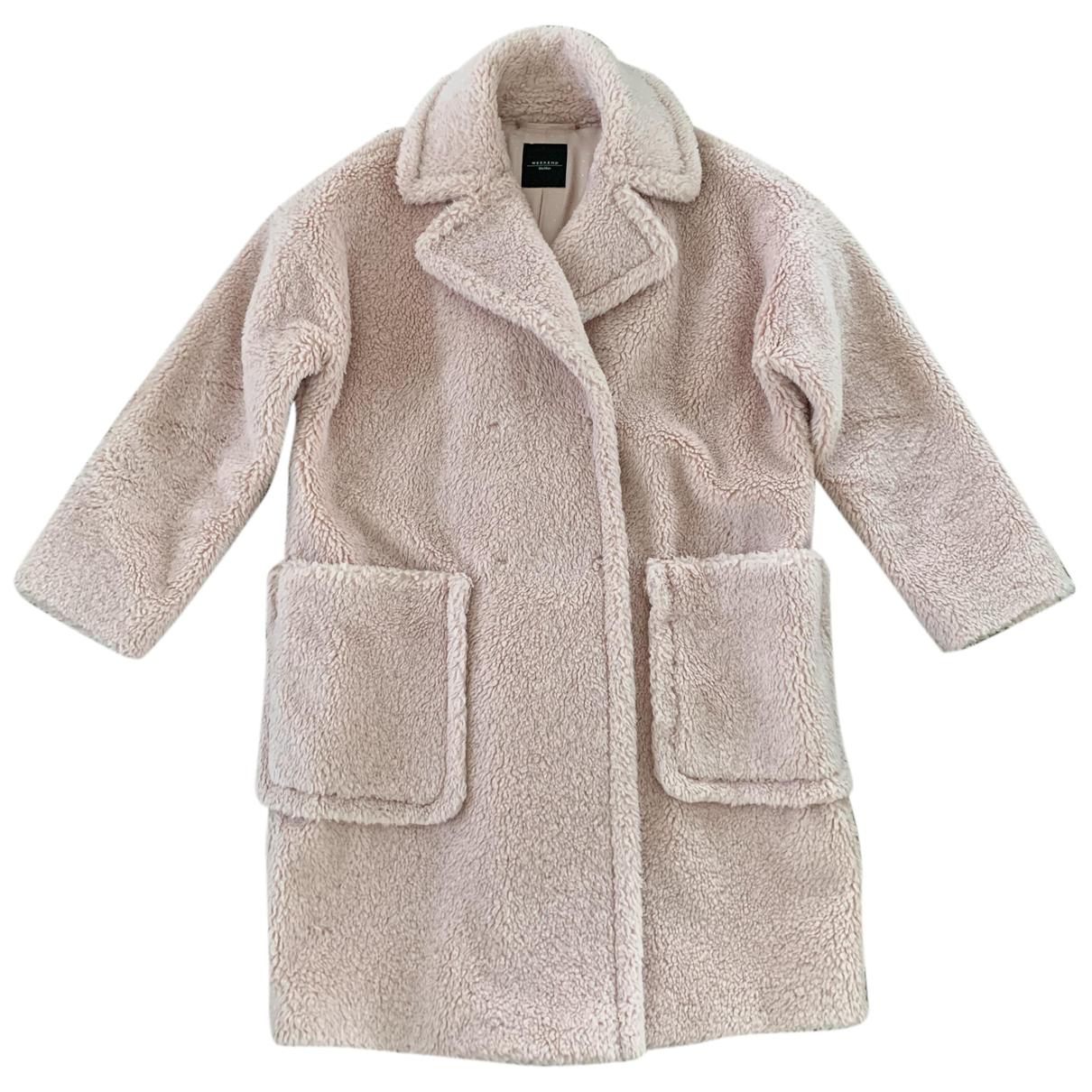Max Mara Weekend N Pink Wool coat for Women 38 IT