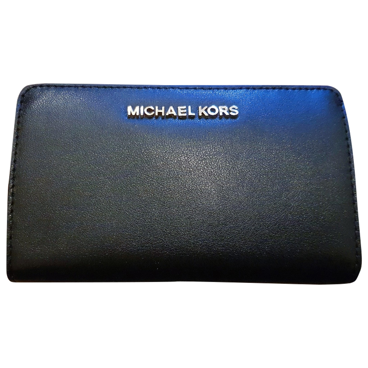 Michael Kors \N Portemonnaie in  Schwarz Leder