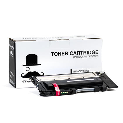 Samsung CLT-K406S SU122A Compatible Black Toner Cartridge - Moustache®