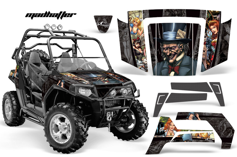 AMR Racing Full Custom UTV Graphics Decal Kit Wrap Mad Hatter Polaris RZR 800 06-10