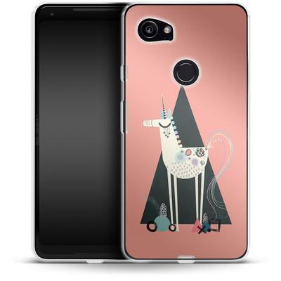 Google Pixel 2 XL Silikon Handyhuelle - Unicorn Triangle von Victoria Topping