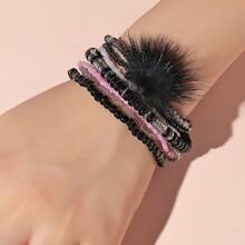 7pcs Simple Beaded Bracelet