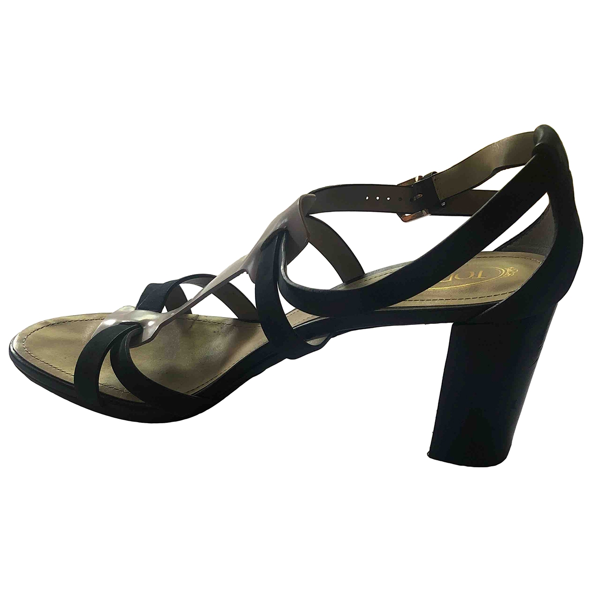 Tod's \N Grey Leather Sandals for Women 39.5 EU
