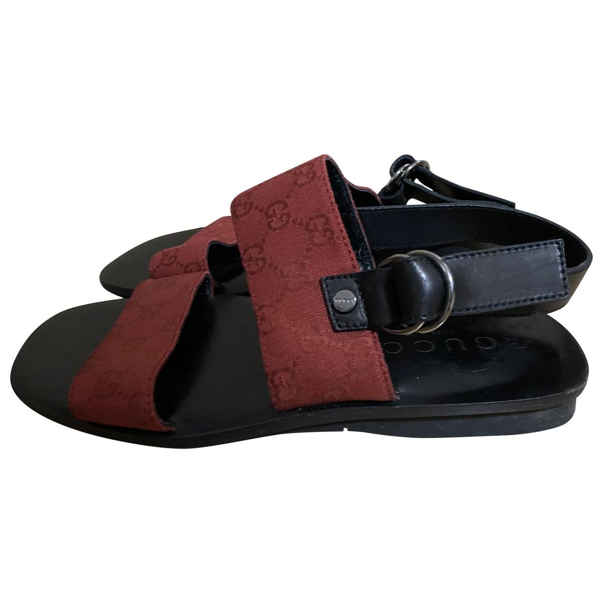Gucci - Sandales   pour homme en toile - rouge