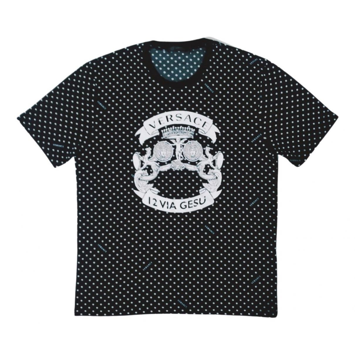 Versace \N Black Cotton T-shirts for Men XL International