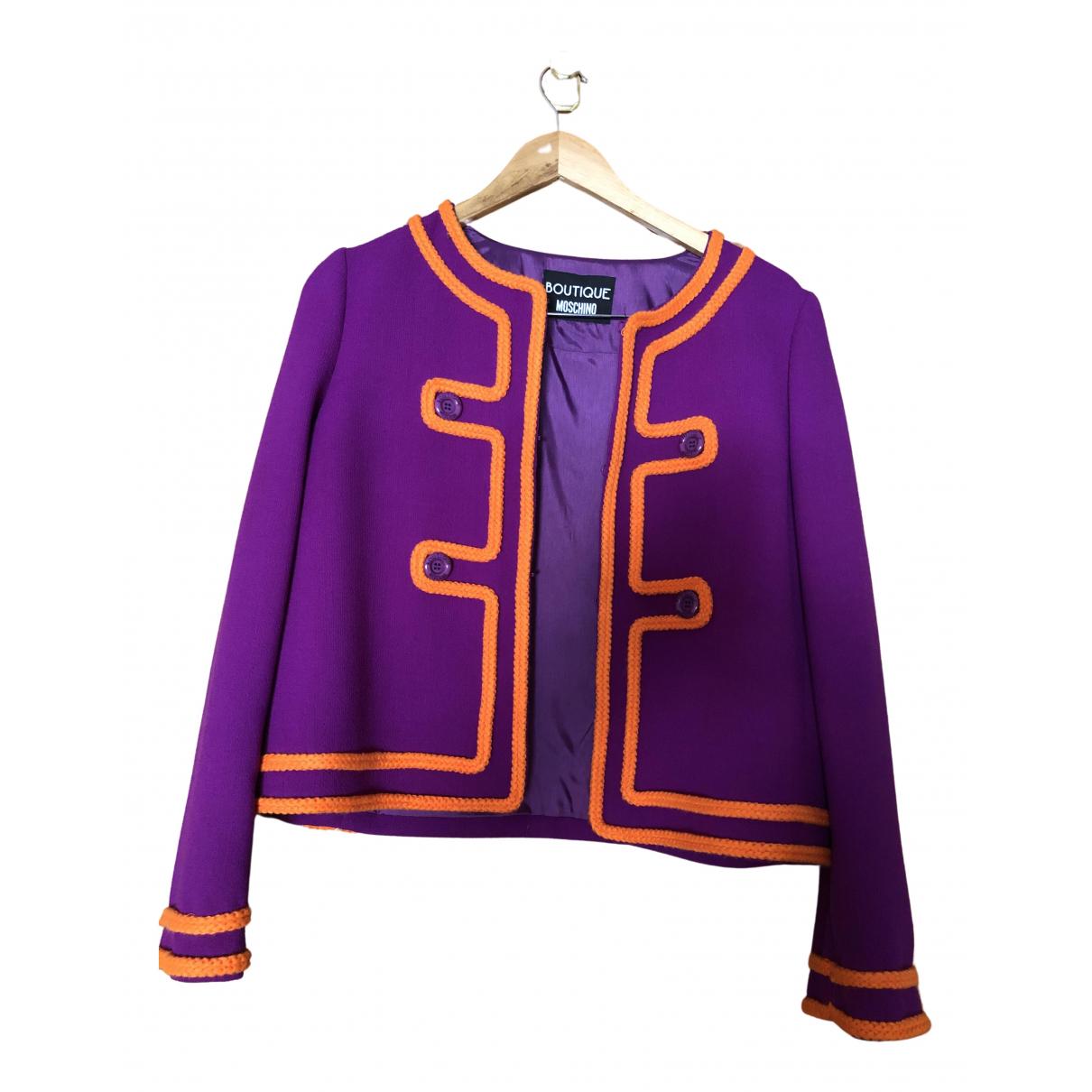 Moschino - Veste   pour femme en laine - violet
