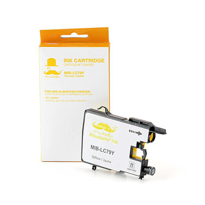 Compatible Brother MFC-J6910DW Yellow Ink Cartridge by Moustache, Extra High Yield