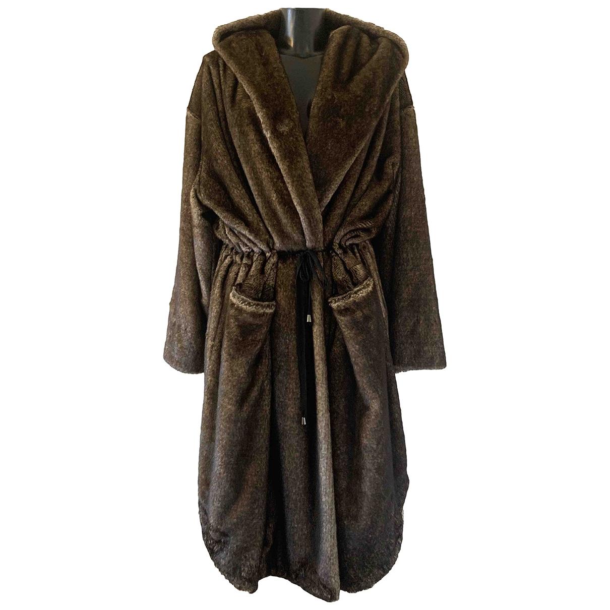 Mes Demoiselles ... \N Brown Faux fur coat for Women 46 IT