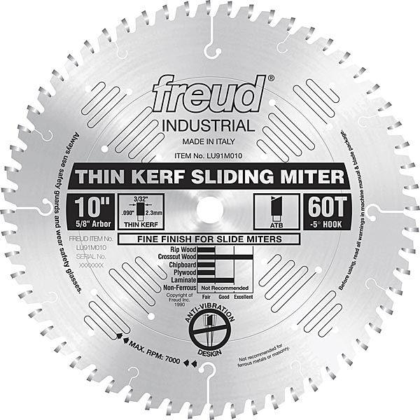 LU91M010 Sliding Compound Miter Saw Blade 10