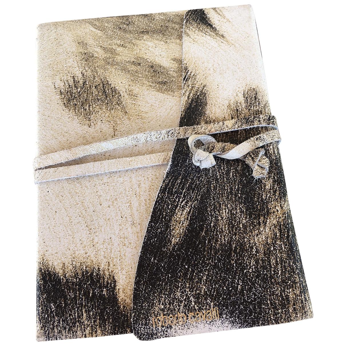 Roberto Cavalli - Objets & Deco   pour lifestyle en cuir - blanc