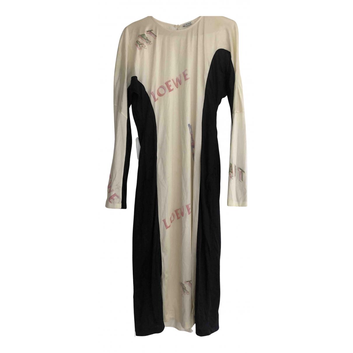 Loewe \N Kleid in  Beige Synthetik