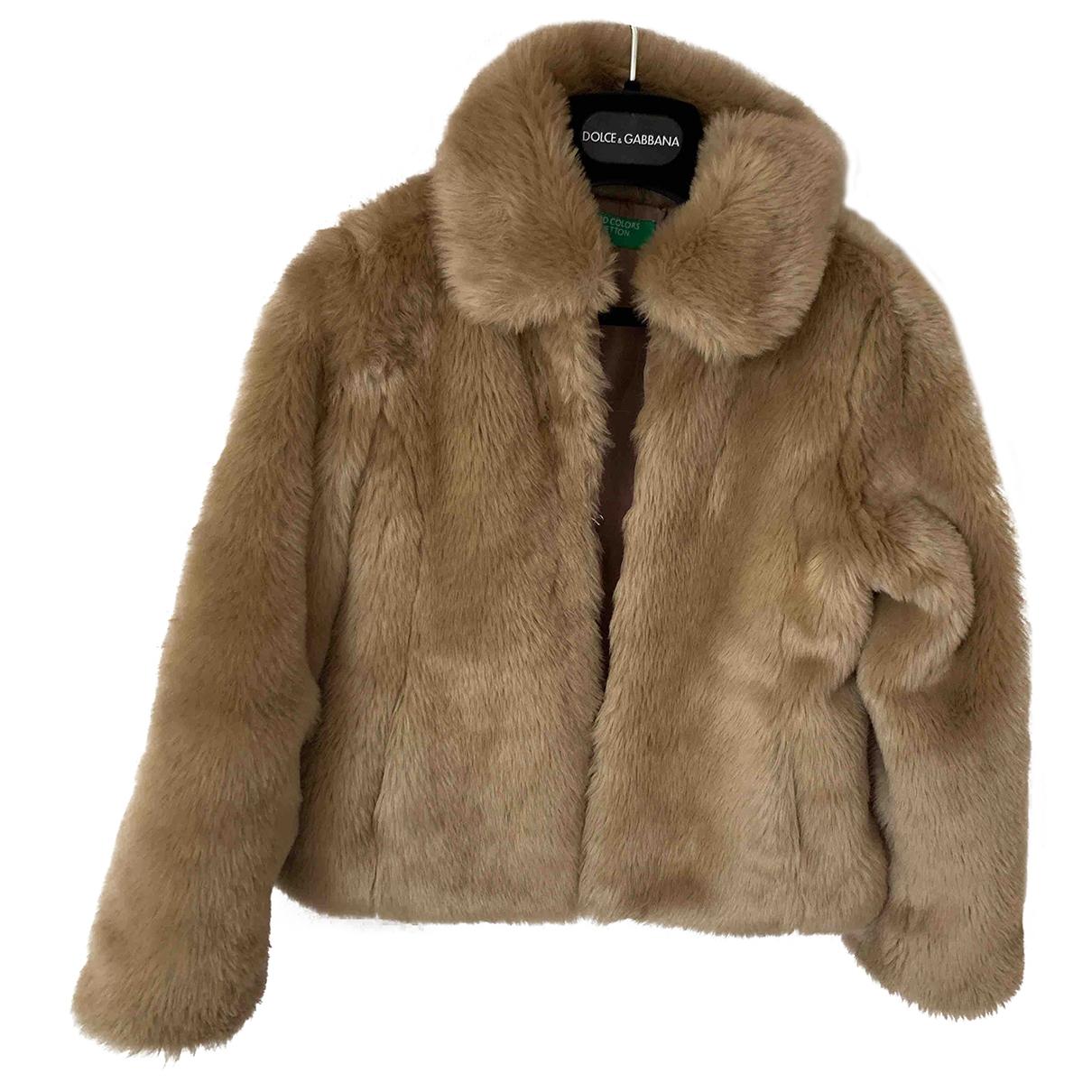 - Blousons.Manteaux   pour enfant en fourrure synthetique - beige