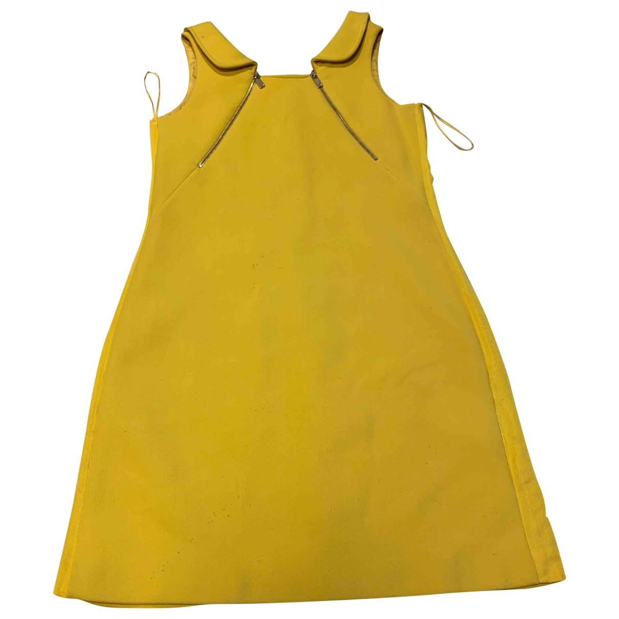 Michael Kors \N Yellow Wool dress for Women 8 US
