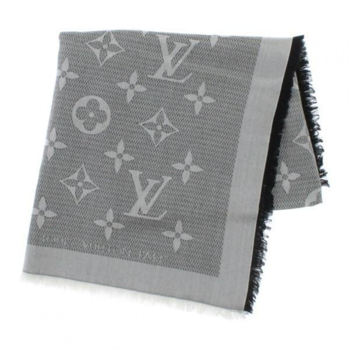 Louis Vuitton Châle Monogram Grey Silk scarf for Women \N