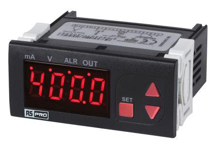 RS PRO Temperature Indicator, 77 x 35mm, Current, Voltage Input, 24 V ac Supply