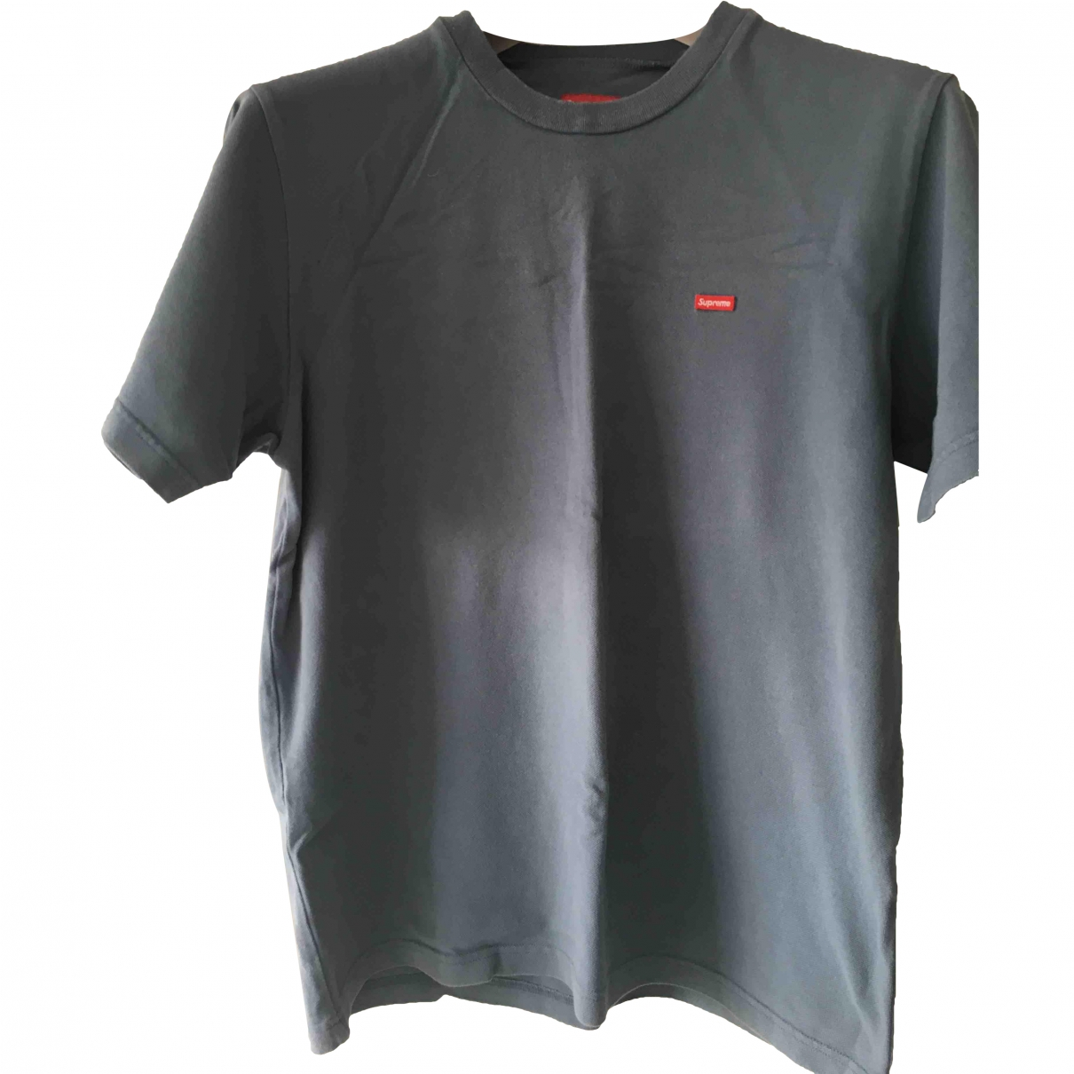 Supreme \N T-Shirts in  Blau Baumwolle