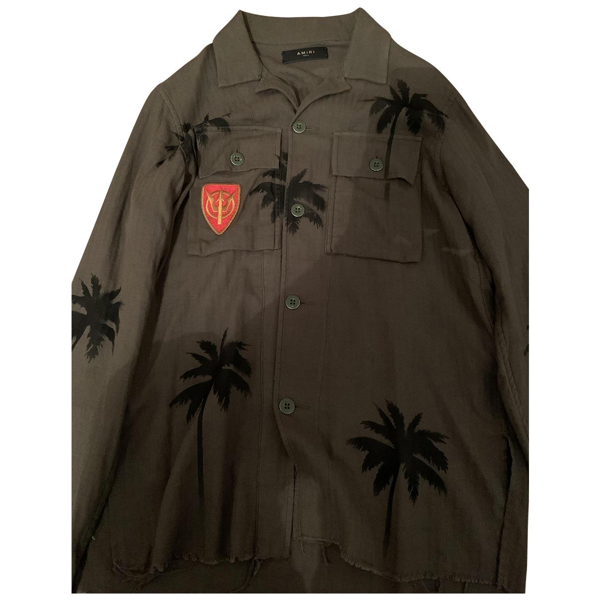 Amiri - Chemises   pour homme en coton - kaki