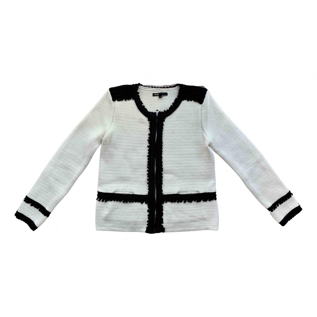 Maje N White Cotton Knitwear for Women 38 FR