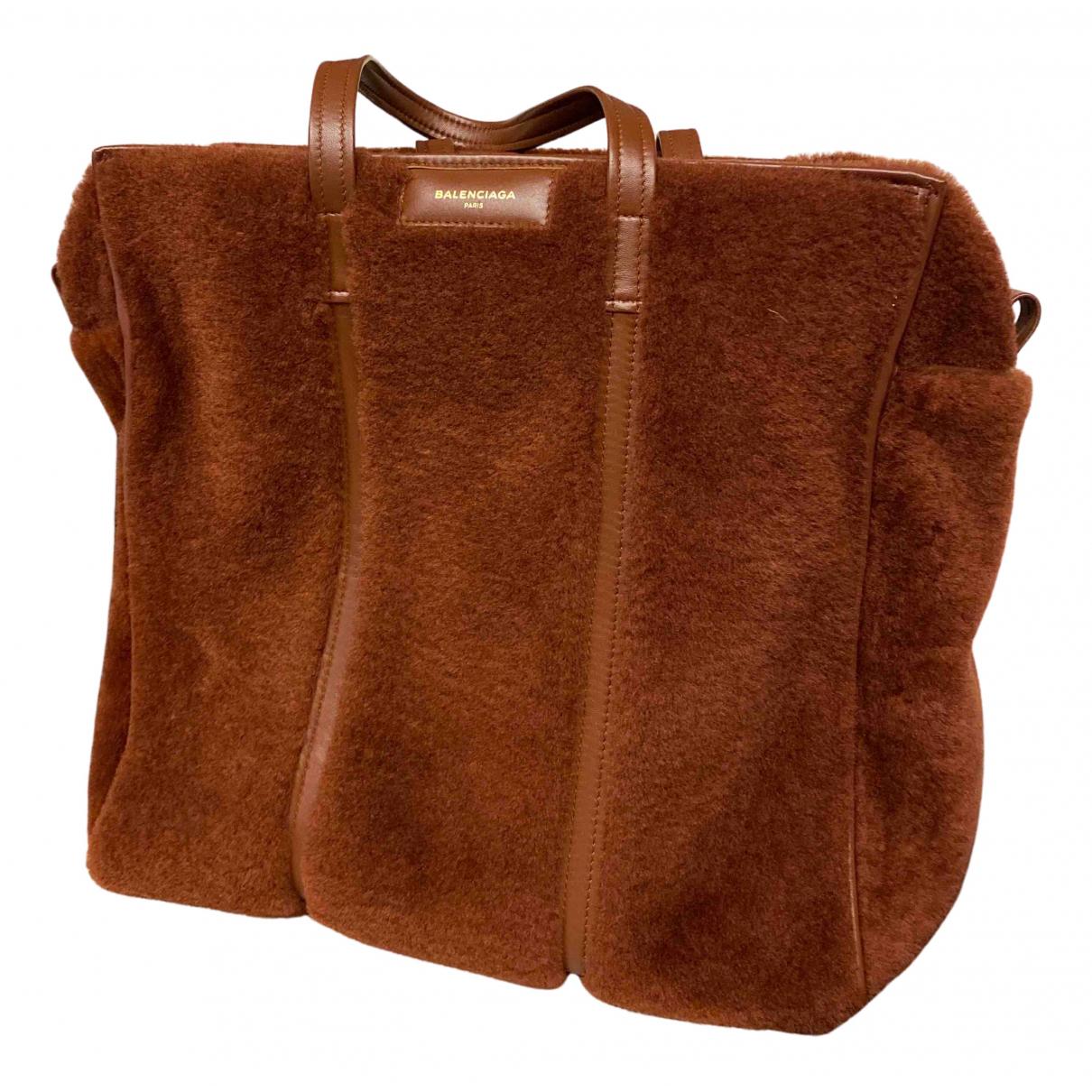 Balenciaga - Sac a main Cable pour femme en mouton - marron