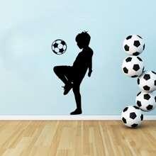 Football Boy Print Wall Sticker