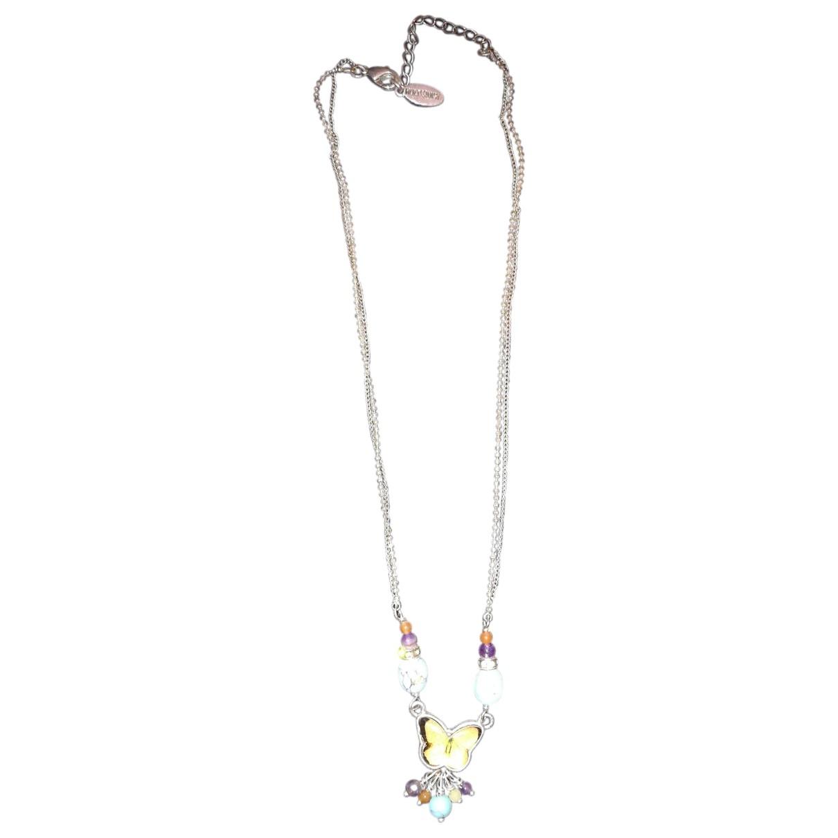 - Collier   pour femme en argent - multicolore