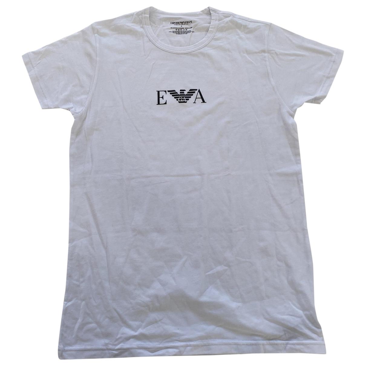 Emporio Armani \N T-Shirts in  Weiss Baumwolle