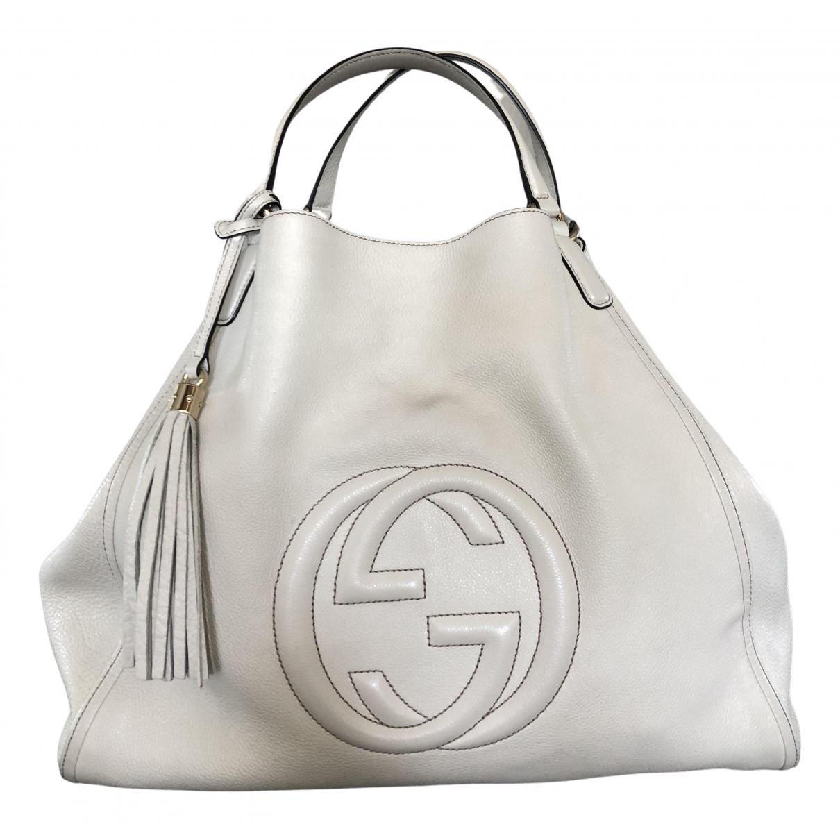 Gucci Soho Ecru Leather handbag for Women \N