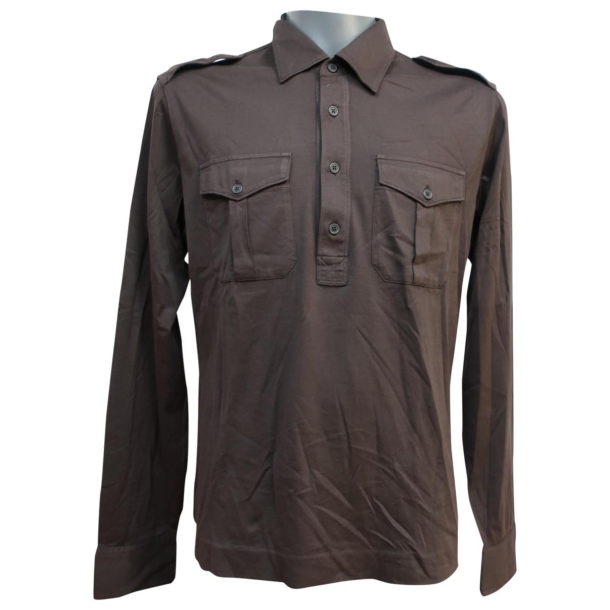 Cp Company - Polos   pour homme en coton - marron