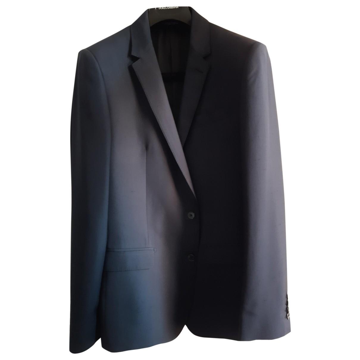 Dolce & Gabbana - Costumes   pour homme en soie - bleu