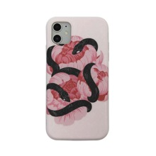Snake & Floral Print iPhone Case