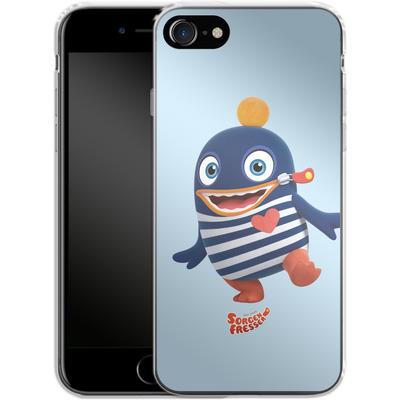 Apple iPhone 7 Silikon Handyhuelle - Sorgenfresser Ping von Sorgenfresser