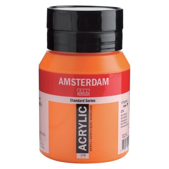Amsterdam Standard Acrylics, 500 ml Paint in Azo Orange | Michaels®