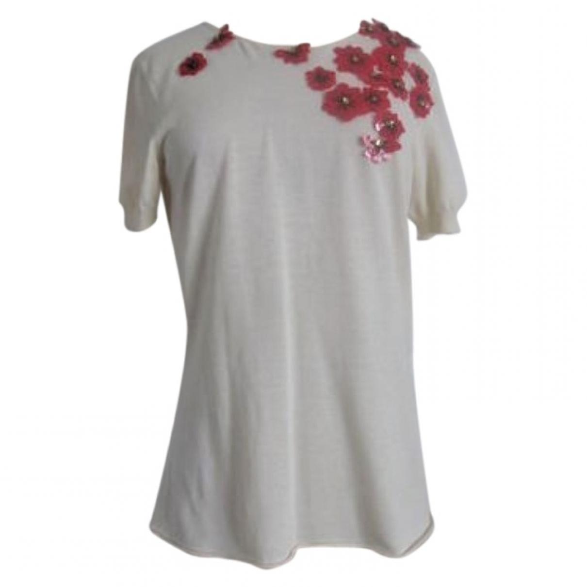 Lanvin \N Ecru Cotton  top for Women 38 FR