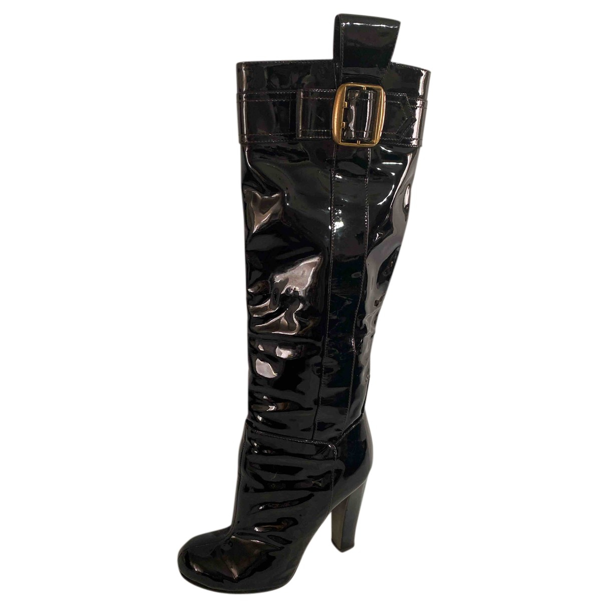 D&g N Black Patent leather Boots for Women 36 EU
